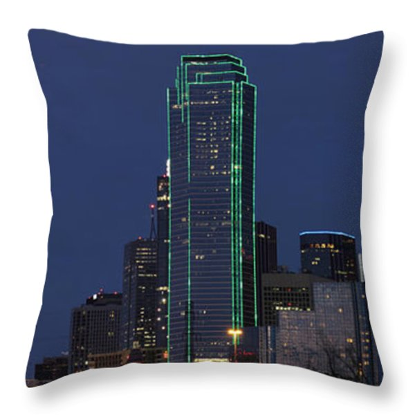 Dallas Skyline Throw Pillow by Jonathan Davison