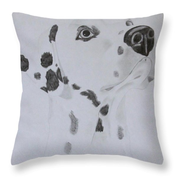 Dalmatian Throw Pillow by AR Annahita