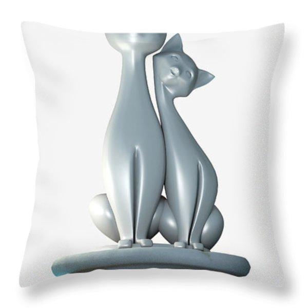 Damn Cats... Throw Pillow by Tim Fillingim
