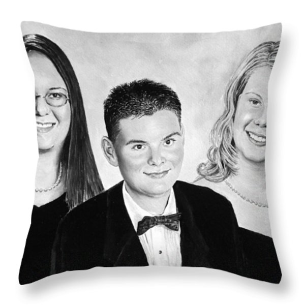 Dana and Curtis and Viktoria Throw Pillow by Andrew Read