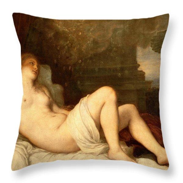 Danae Throw Pillow by Titian