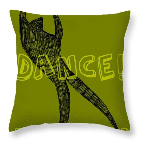 Dance Dance Dance Throw Pillow by Michelle Calkins