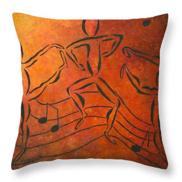 Dance Fever Throw Pillow by Pamela Allegretto