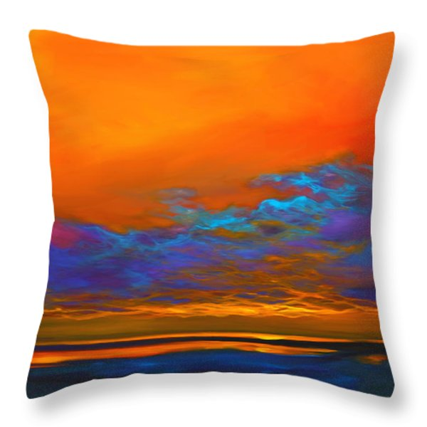 Dance of Angels Throw Pillow by Mike Savlen