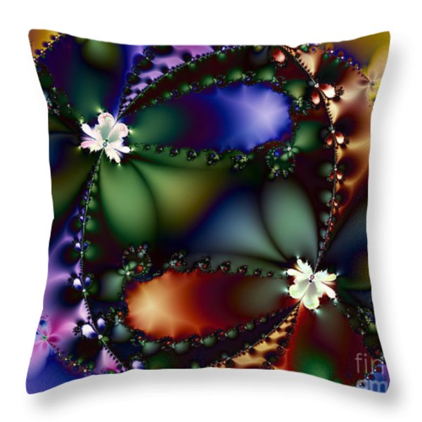 Dance Of The Gypsy Moths On A Moon Lit Night 20130510 Throw Pillow by Wingsdomain Art and Photography