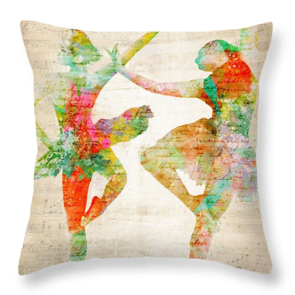 Dance With Me Throw Pillow by Nikki Marie Smith