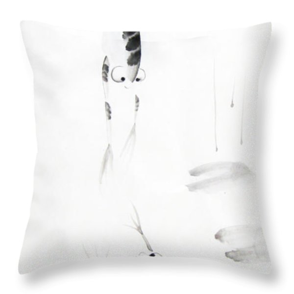 Dance With Me Throw Pillow by Oiyee At Oystudio
