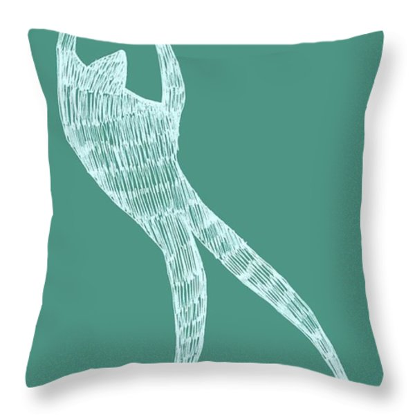 Dancer Throw Pillow by Michelle Calkins