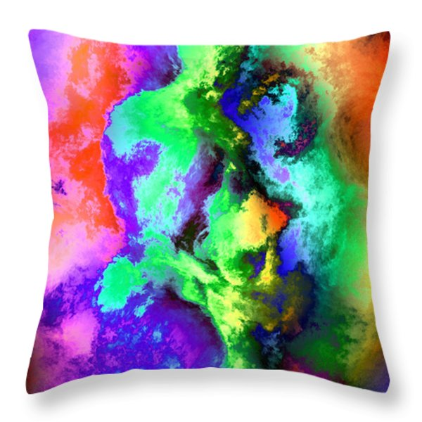 Dancers Throw Pillow by Kurt Van Wagner