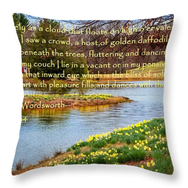 Dances With The Daffodils Throw Pillow by Bill  Wakeley
