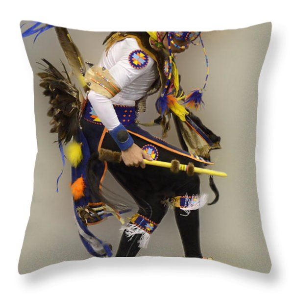 Dancing For The Spirit Throw Pillow by Bob Christopher