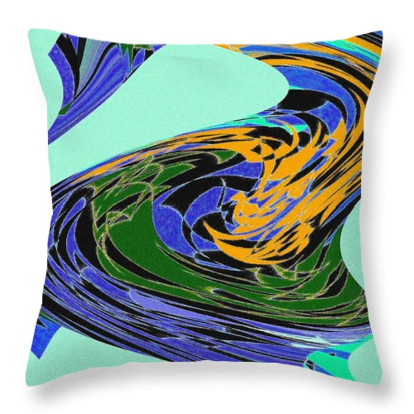 Dancing Goose Throw Pillow by Will Borden