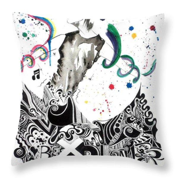 Dancing In Berlin Throw Pillow by Oddball Art Co by Lizzy Love