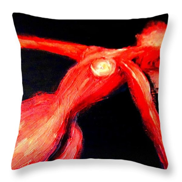Dancing in darkness Throw Pillow by Hilde Widerberg