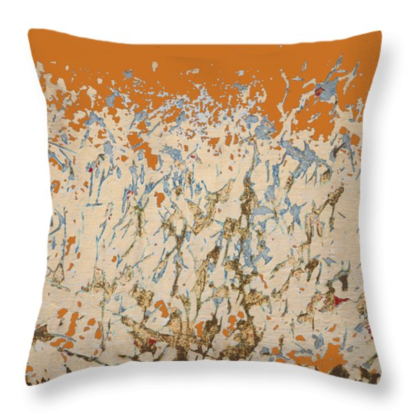 Dancing In The Fire Throw Pillow by Carol Leigh