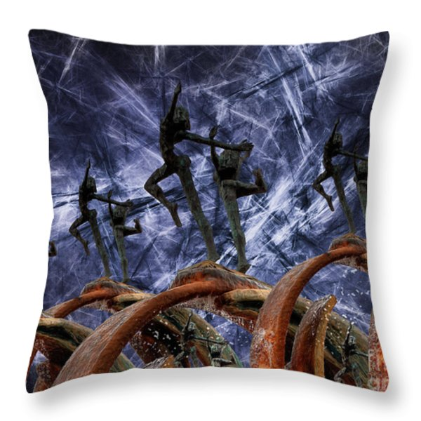 Dancing In The Moonlight Throw Pillow by English Landscapes