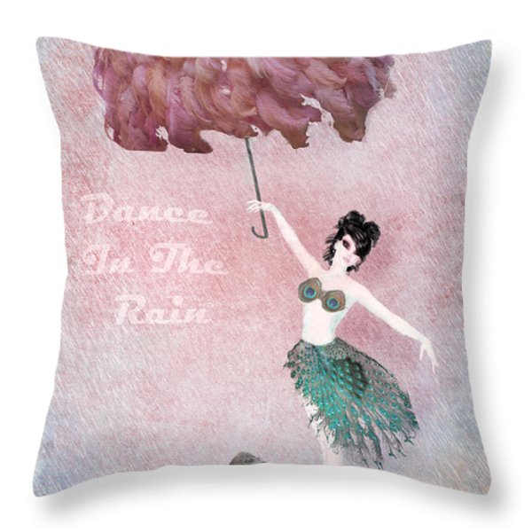 Dancing in the Rain Throw Pillow by Terry Fleckney