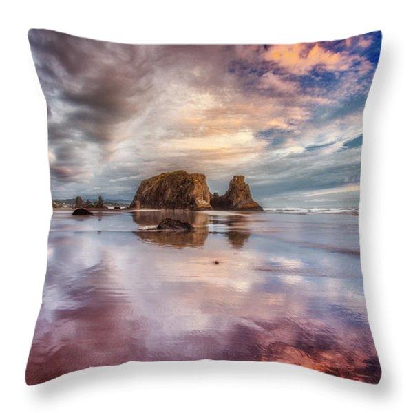 Dancing Sunset Throw Pillow by Darren  White