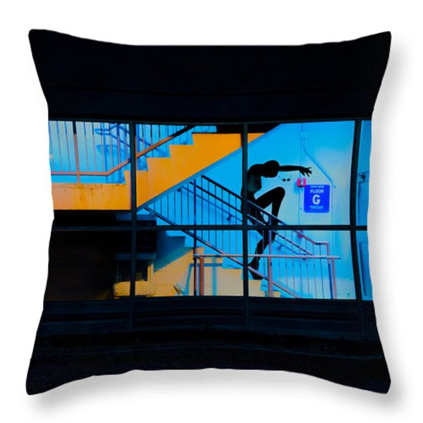 Dancing To Floor G Night People Throw Pillow by Bob Orsillo