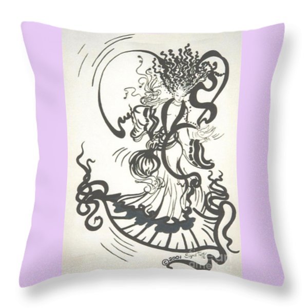 Dancing With the Muse Throw Pillow by Sigrid Tune