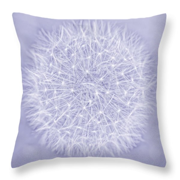 Dandelion Marco Abstract Lavender Throw Pillow by Jennie Marie Schell