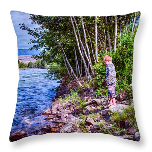 Dangerous Beauty Throw Pillow by Omaste Witkowski