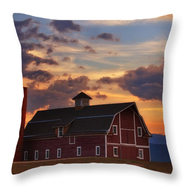 Danny's Barn Throw Pillow by Darren  White