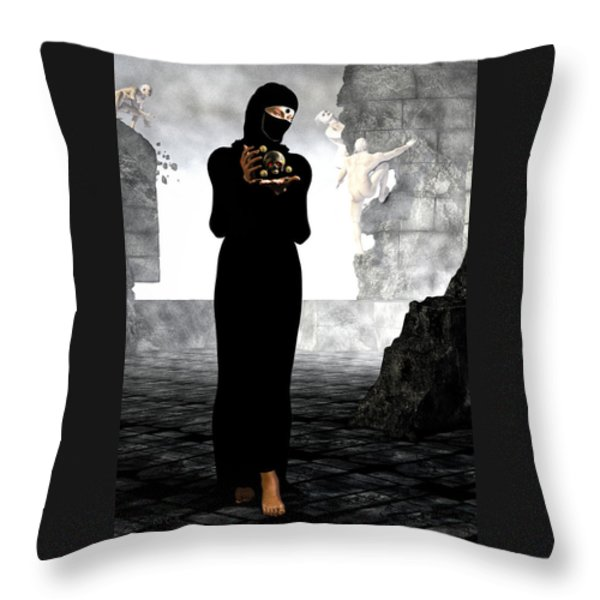 Dantes Dream Throw Pillow by Bob Orsillo