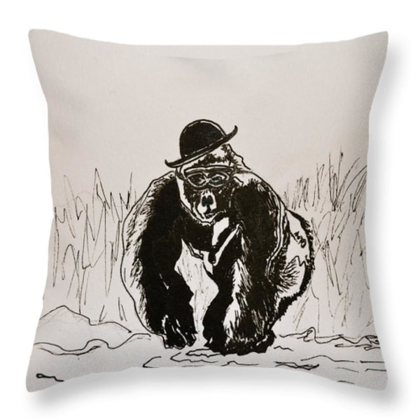 Dapper Throw Pillow by Beverley Harper Tinsley