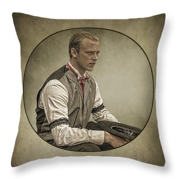 Dapper Dan Throw Pillow by Priscilla Burgers