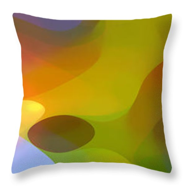 Dappled Light Panoramic 2 Throw Pillow by Amy Vangsgard