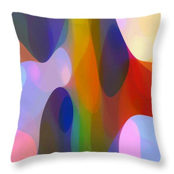 Dappled Light Panoramic Vertical 2 Throw Pillow by Amy Vangsgard