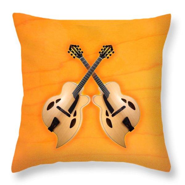 D'aquisto Acoustic Custom Throw Pillow by Doron Mafdoos