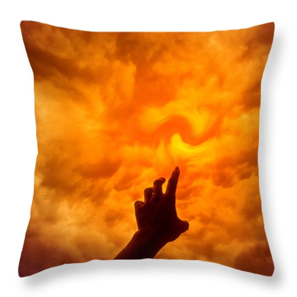 Daring To Reach Higher Throw Pillow by Kellice Swaggerty