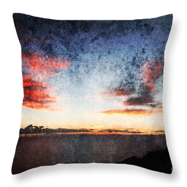 dark angel Throw Pillow by Stylianos Kleanthous