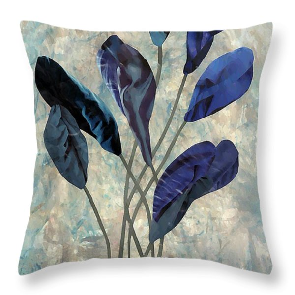 Dark Blue Throw Pillow by Sarah Loft
