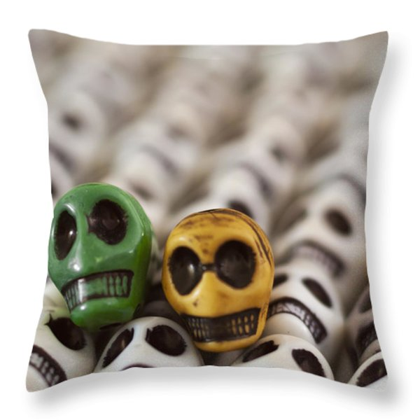 Dark Green And Yellow Throw Pillow by Mike Herdering