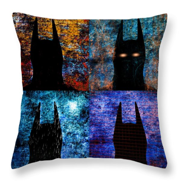 Dark Knight Number 5 Throw Pillow by Bob Orsillo