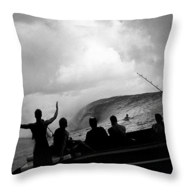 Dark Menace Throw Pillow by Sean Davey