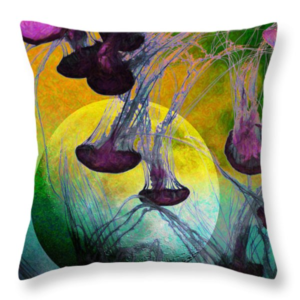 Dark Side Of The Moon 5D24939 Painterly m111 Throw Pillow by Wingsdomain Art and Photography