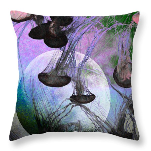 Dark Side Of The Moon 5d24939 Painterly P180 Throw Pillow by Wingsdomain Art and Photography