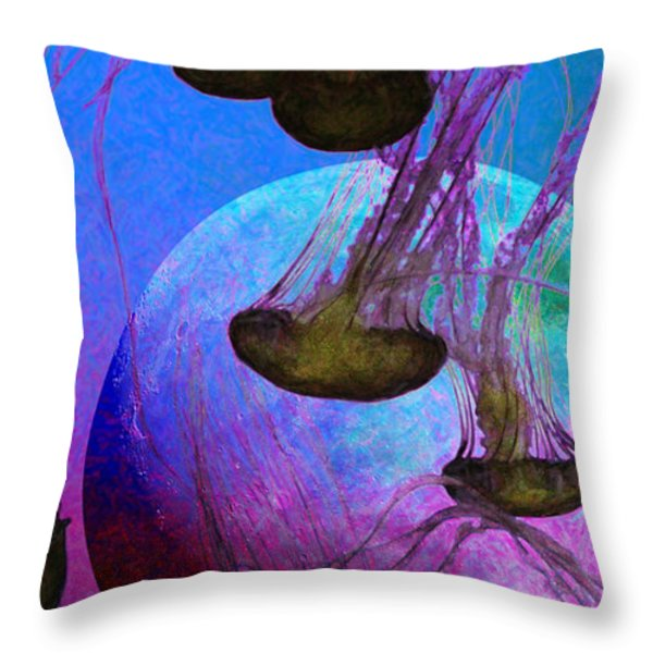 Dark Side Of The Moon 5D24939 Painterly p88 Long Throw Pillow by Wingsdomain Art and Photography