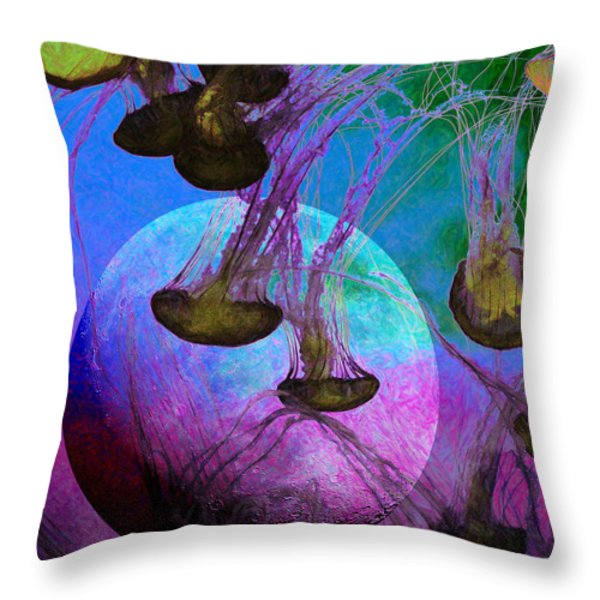 Dark Side Of The Moon 5d24939 Painterly P88 Throw Pillow by Wingsdomain Art and Photography