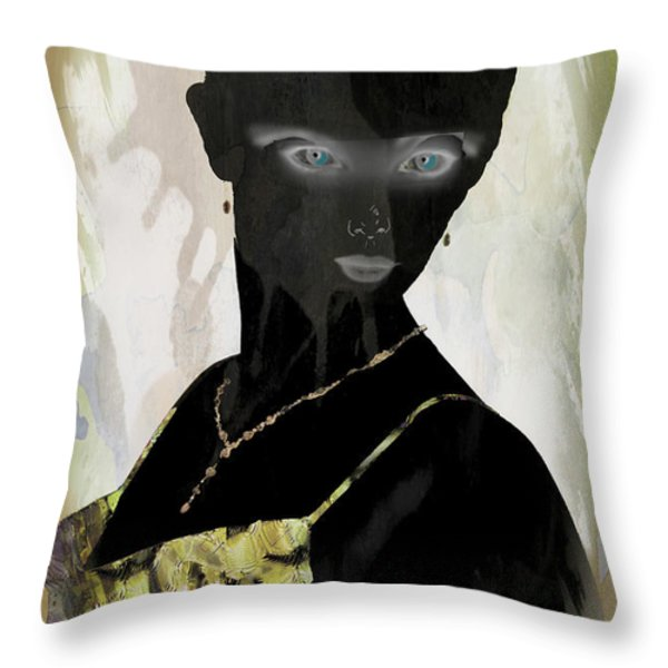 Dark Vision - Featured On Comfortable Art And A Place For All Groups Throw Pillow by EricaMaxine  Price