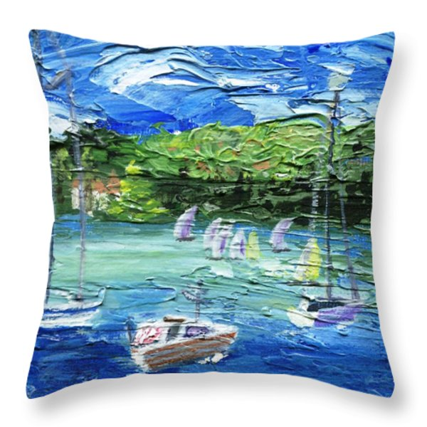 Darling Harbor II Throw Pillow by Jamie Frier