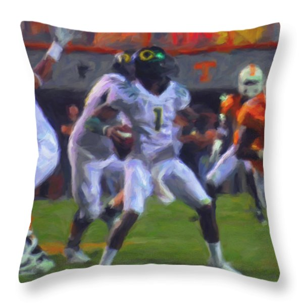 Darron Thomas Throw Pillow by Michael Pickett