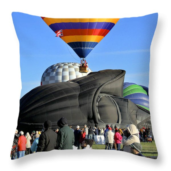 Darth Vader Rises Throw Pillow by Mike McGlothlen