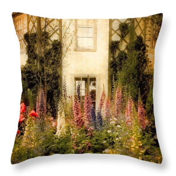 Darwin's Garden Throw Pillow by Jessica Jenney