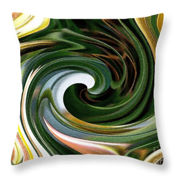 Dasystemon Tarda Twirls Throw Pillow by J McCombie