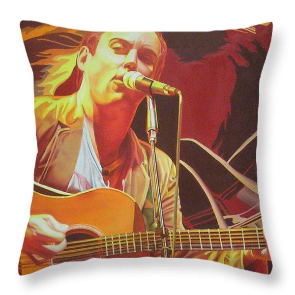 Dave matthews at Vegoose Throw Pillow by Joshua Morton